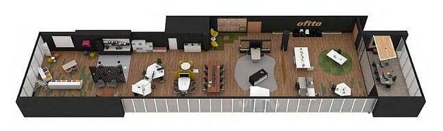 Plano showroom ofita